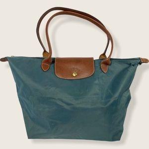 Longchamp Le Pliage Tote Bag Large Purse Blue Flaw